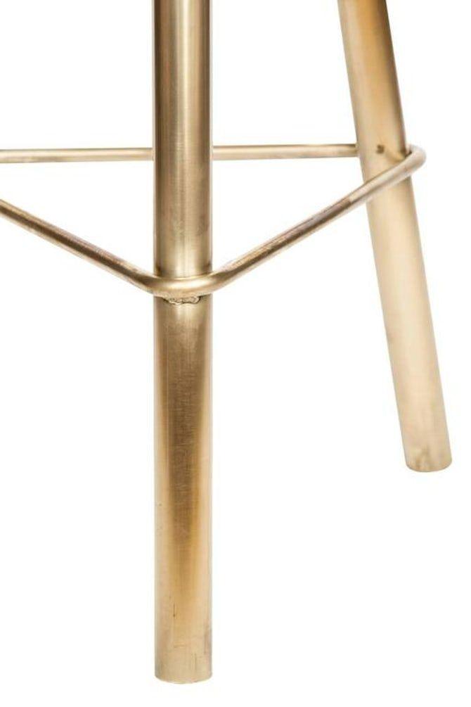 Erickson Aesthetics Brass Stool Contemporary Industrial