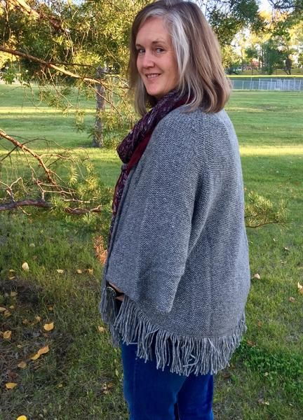 Part Two Evanna Poncho in Medium Grey Melange, $179. #chateaucountrylace #parttwo #fall2016 #shopifypicks