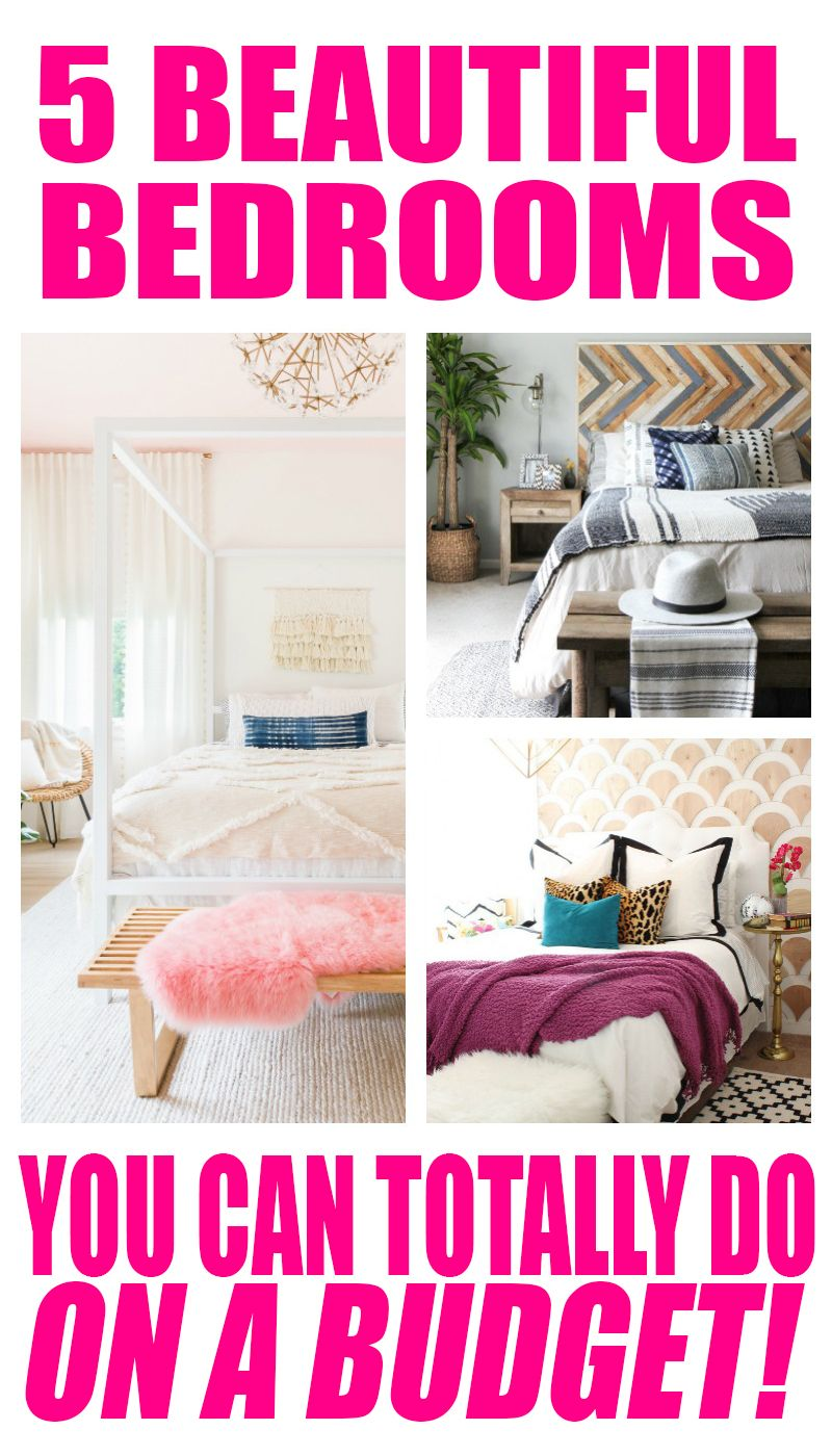 5 Beautiful Bedrooms On A Budget Decorating Ideas For