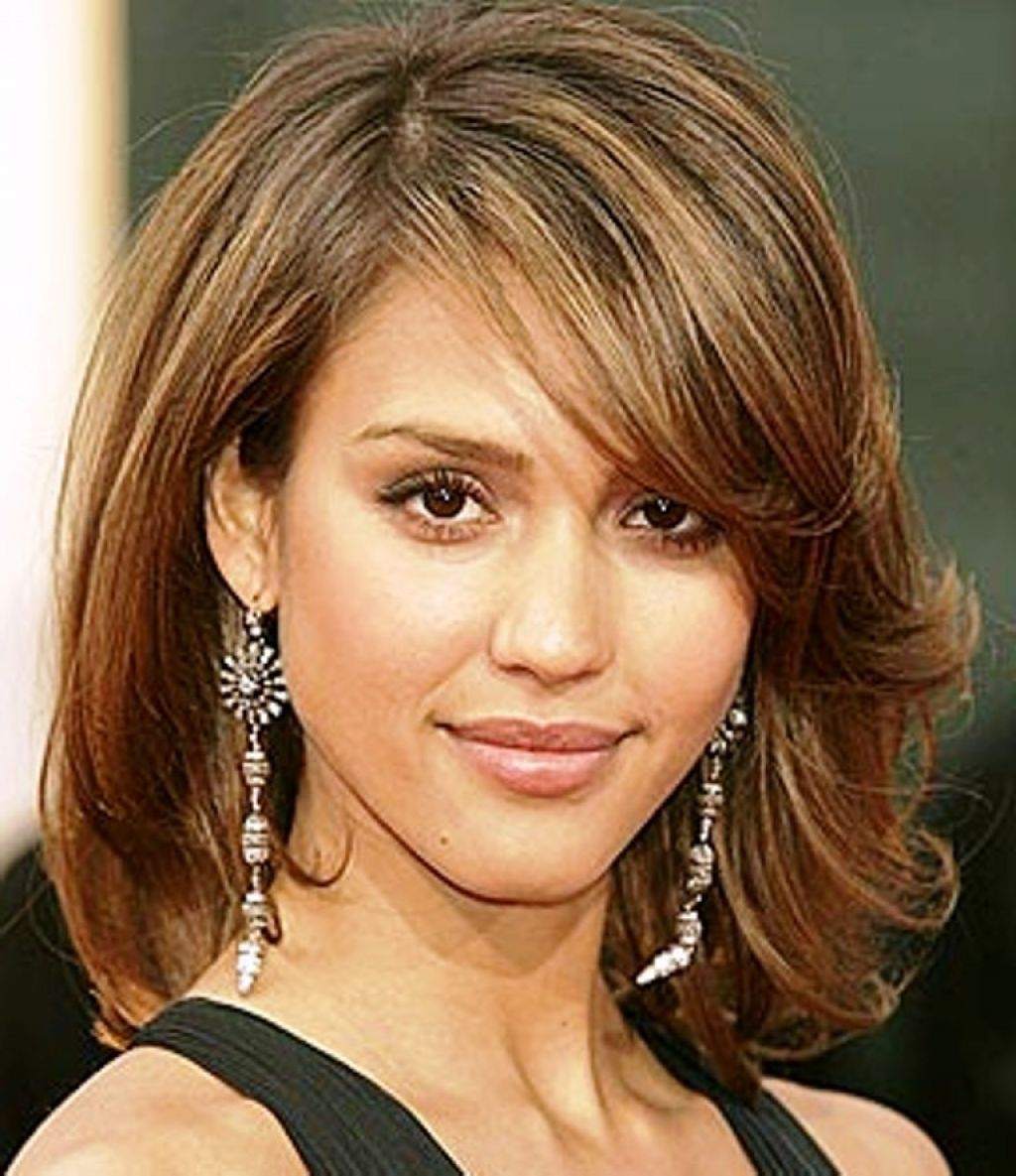 shoulder length hairstyles for fine hair and round face trendy