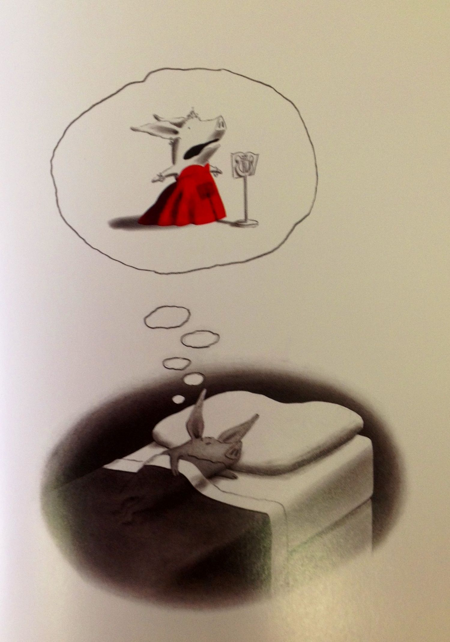 Olivia , Ian Falconer - Olivia dreaming after her mother has read to ...