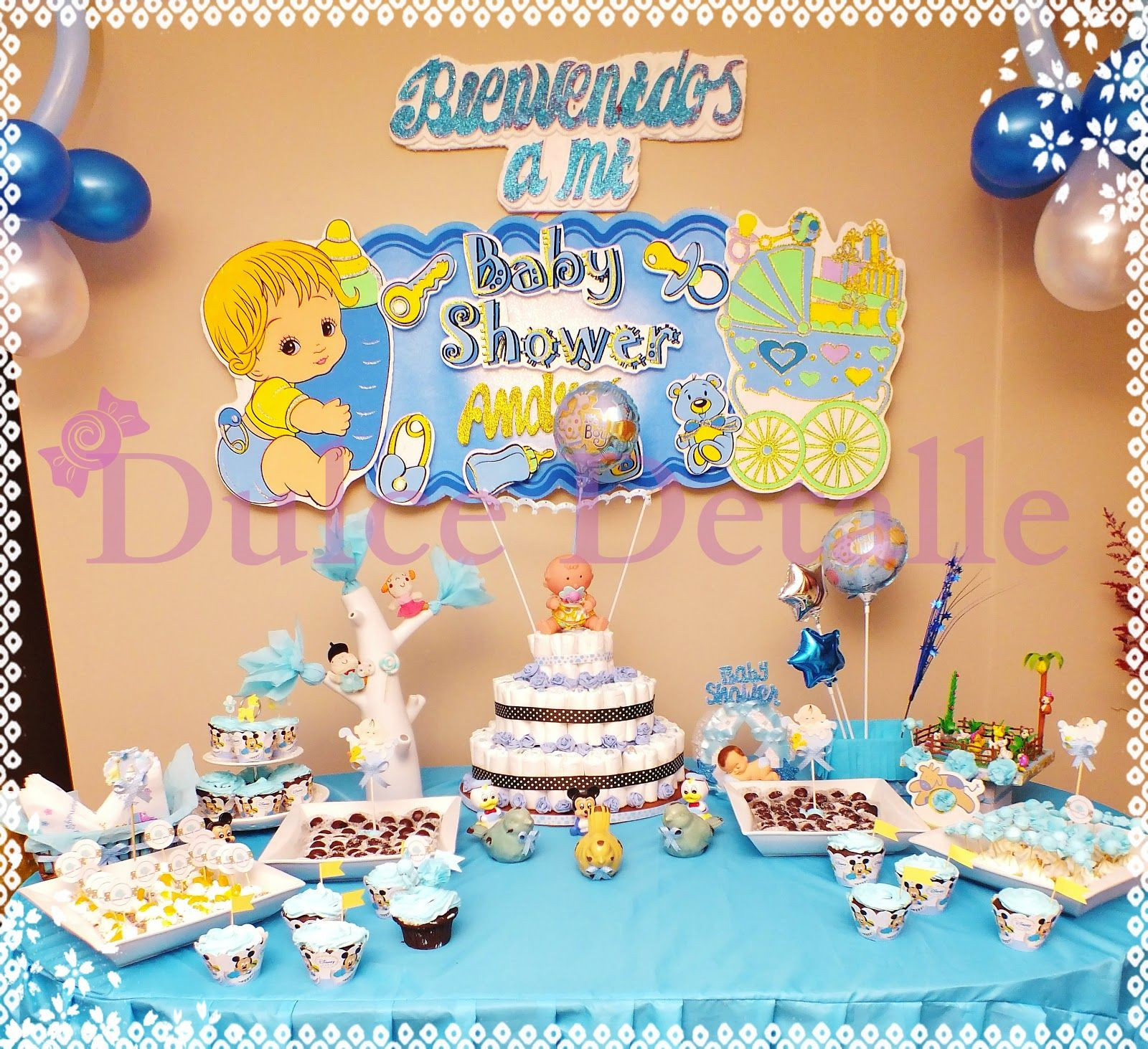 Arrangement decoracion para baby shower juegos and for Decoracion barata