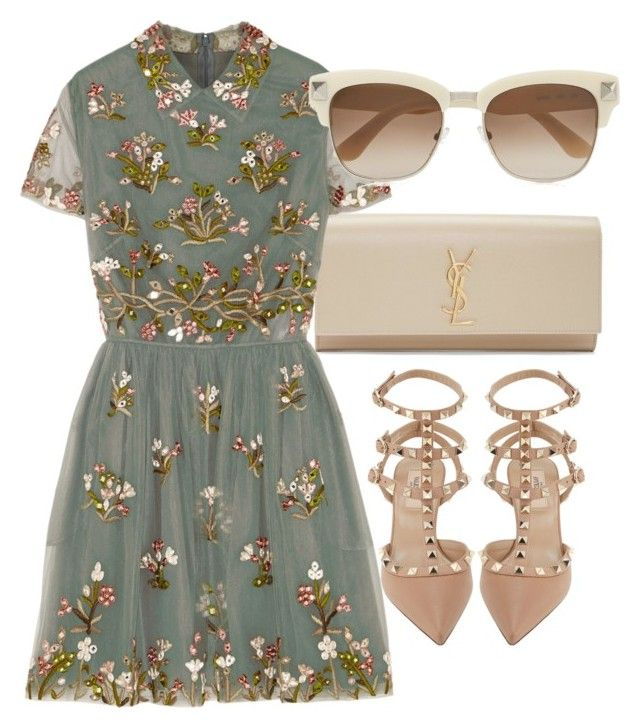 """""""Untitled #2834"""" by glitter-the-world ❤ liked on Polyvore featuring Yves Saint Laurent and Valentino"""