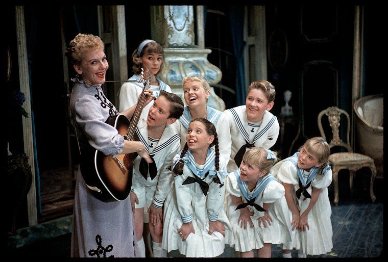 The Sound Of Music This Is When Gretel Runs Into Maria S Bedroom Because She Is Afraid Of The Thunderst Sound Of Music Movie Musical Movies Sound Of Music