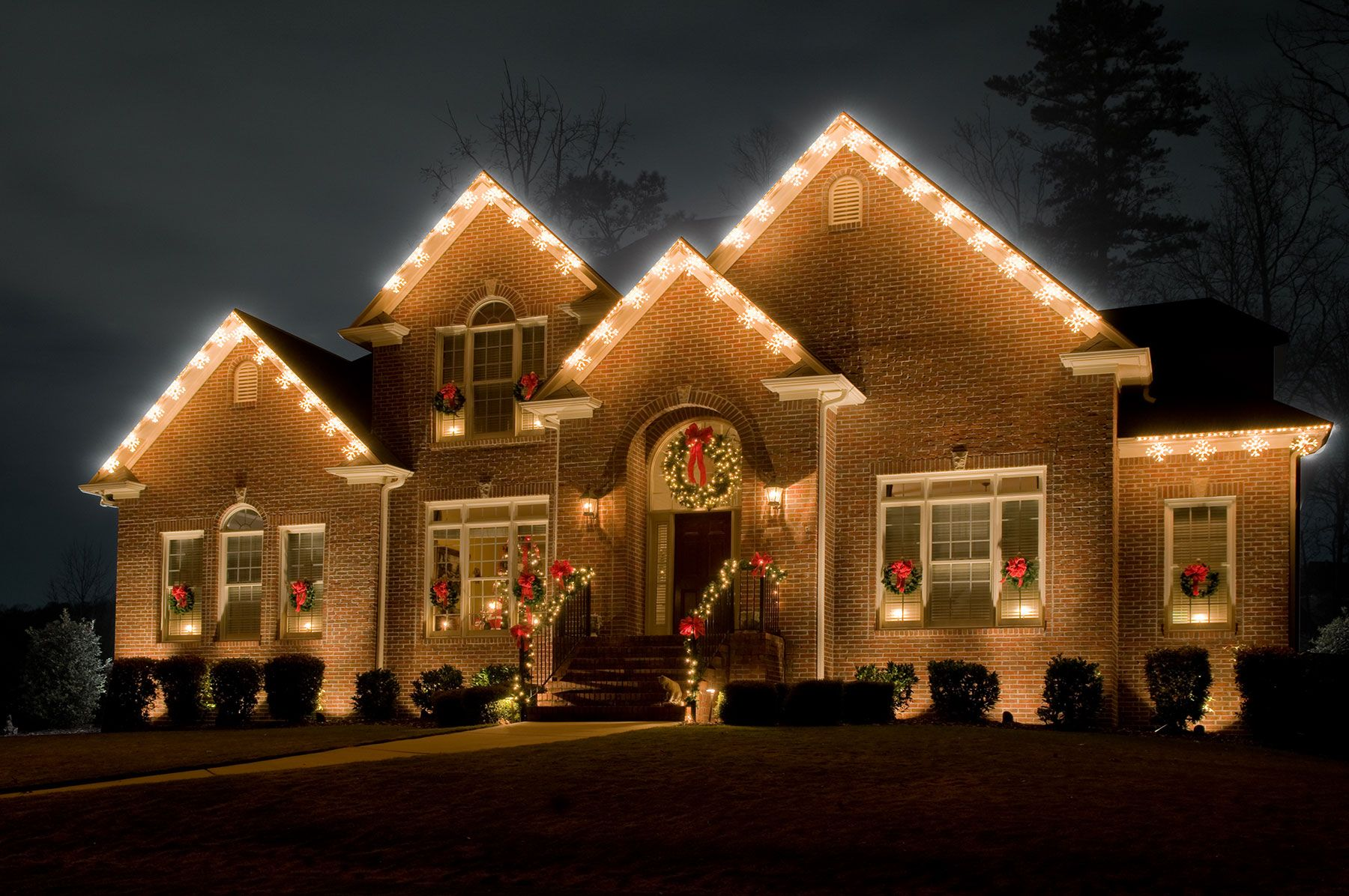 star like led snowflake light fixtures are just the perfect outdoor holiday lighting accent for - Christmas Outdoor Spotlights