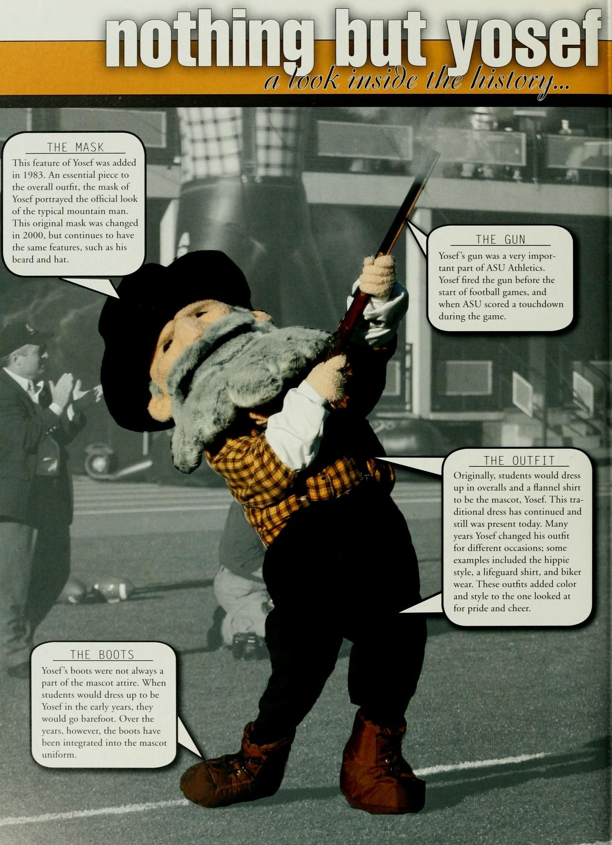 Yosef the Mountaineer, 2004, Appalachian State University