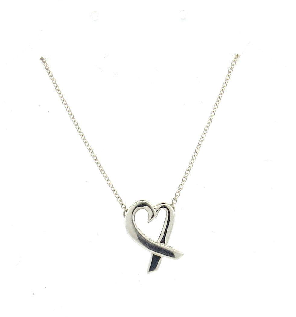 Tiffany co paloma picasso loving heart sterling silver necklace paloma picasso loving heart sterling silver necklace aloadofball Gallery