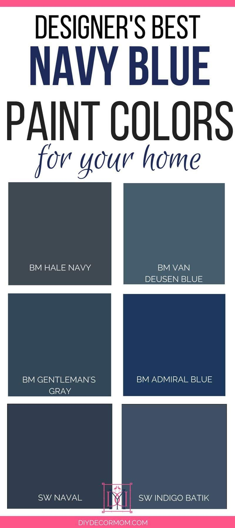 Sherwin Williams Navy Blue Paint Home Navy Paint Colors