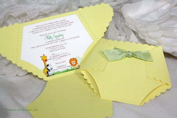 Baby Shower: Diaper Invites For Baby Shower As An Inspiration To Make Bewitching…