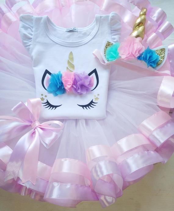 e7a5e62657 Pink And Lavender Unicorn Tutu Outfit, Unicorn 1st Birthday Outfit, Unicorn  Cake Smash Outfit, Magic