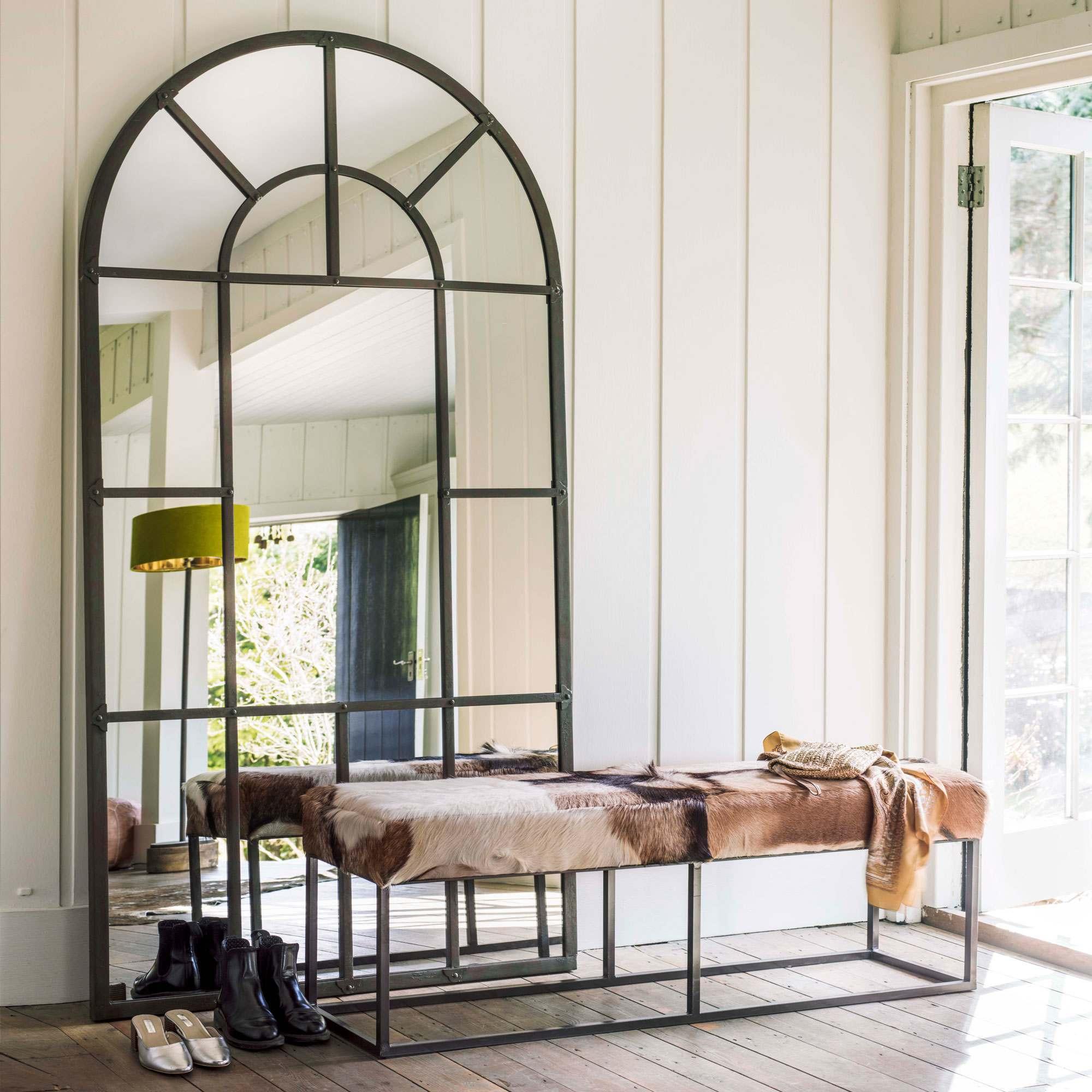 Large Window Pane Mirror In 2020 Window Pane Mirror Living Room