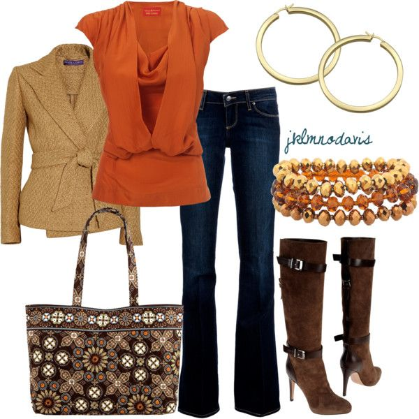 Orange & Browns- love everything but the boots
