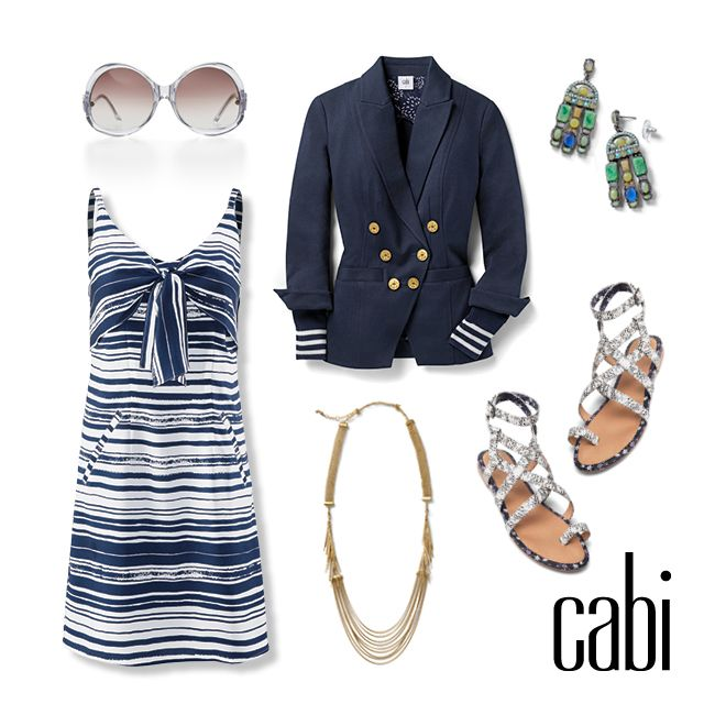 Don't miss the Yacht Cruise collection. The Knot Dress and Grand Slam Blazer paired with the Athena Sandal is the perfect Sunday brunch outfit. Yacht Collection is available to order starting March 29th. They sell fast!  www.nikiwulf.cabionline.com