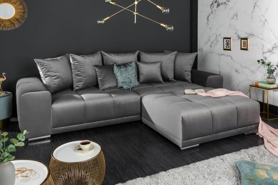 Samt 3er Sofa 280cm Inkl Kissen Riess Ambiente De 3er Sofa Sofa Samt Sofa