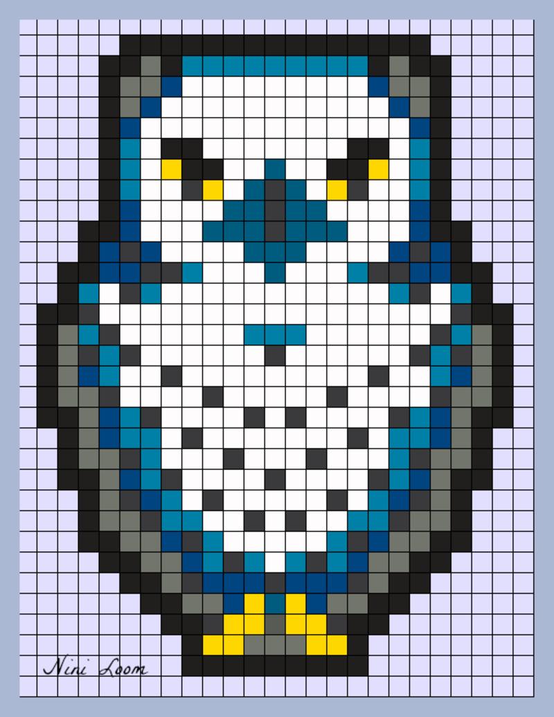 épinglé Par Tuula Kröger Sur Pöllöjen Malleja Pixel Art
