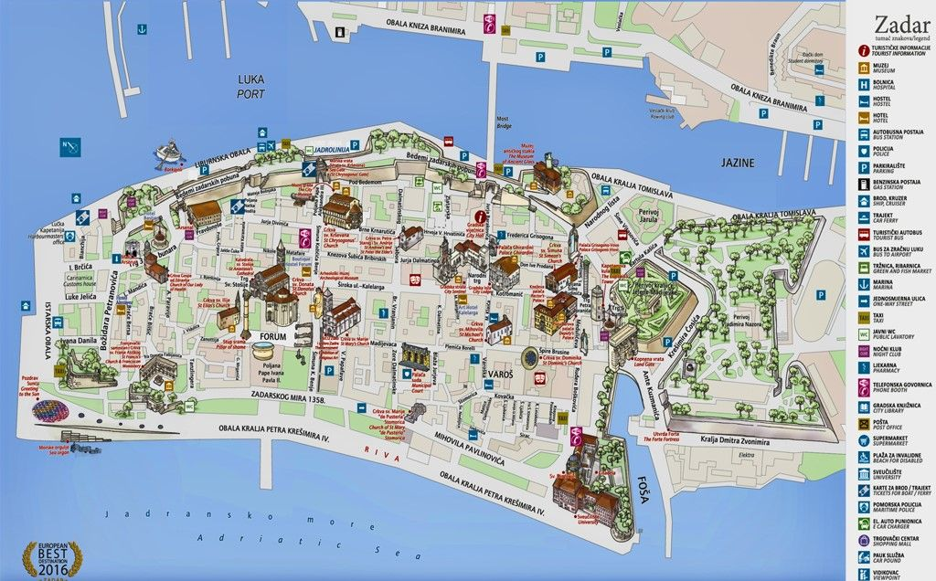 Carte Croatie Zadar.Zadar Map In 2019 Croatia Map Barcelona City Map Map
