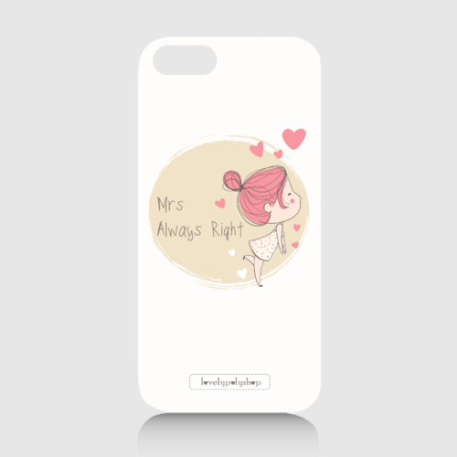 Mrs Always Right Couple Case dari Tees.co.id oleh LovelyPoly Shop