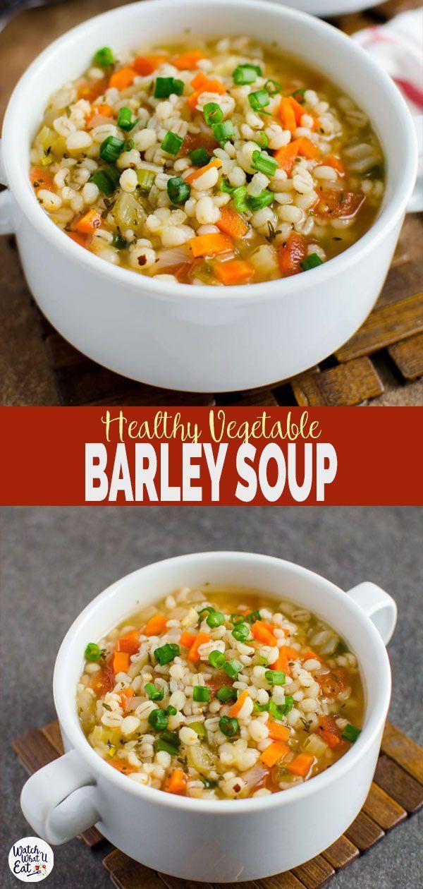 Photo of Barley Soup #Barley #Soup #souphealthy  Homemade Healthy Vegetable Barley Soup …