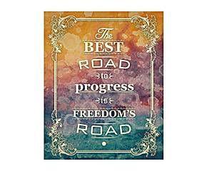 Cartel decorativo impreso the best road