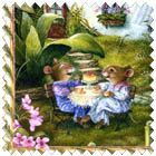 Cup of Tea Fabric  1 Yard/Panel by OutWestCreations4U on Etsy, $7.99