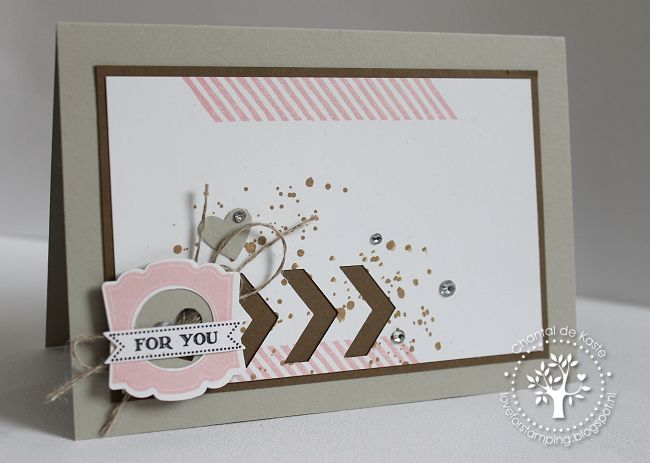 Love for Stamping - Gorgeous Grunge, Label Love, Chevron Border Punch