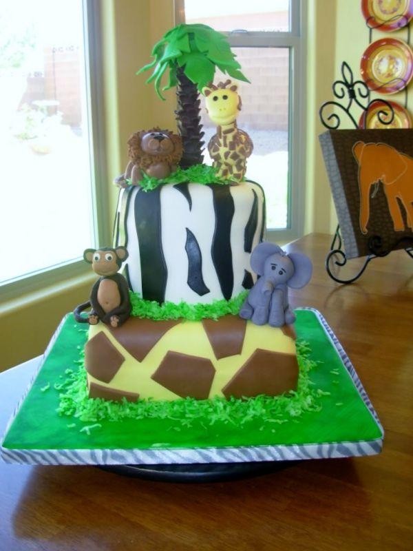 Brilliant Baby Zoo Animal Cake Funny Birthday Cards Online Amentibdeldamsfinfo