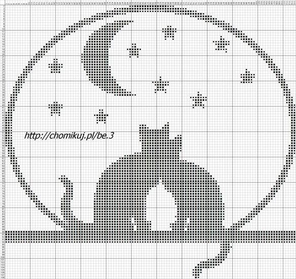 Вышивка крестом монохром коты схемы
