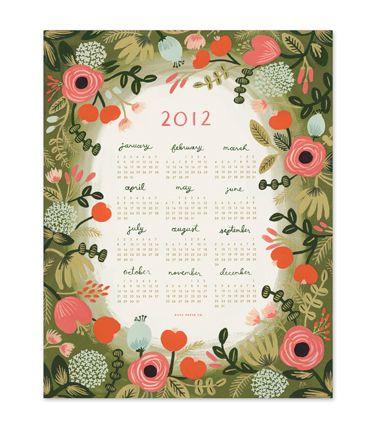 Rifle Paper Co Garden Print Calendar I love Rifle Paper Company