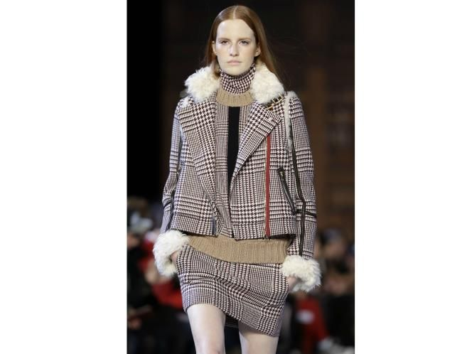 The trend: Check On It  Add a fresh twist to classic houndstooth checks by wearing it all at once - as seen at Tommy Hilfiger.