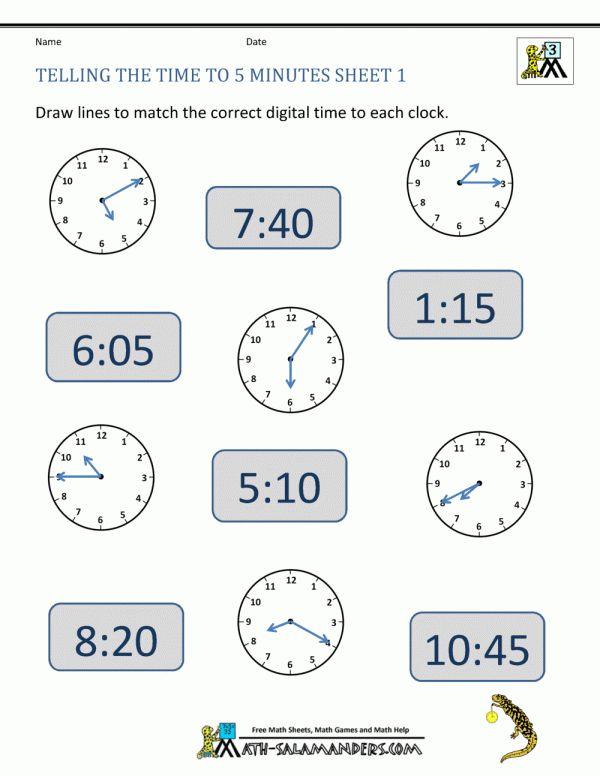 8+ 3Rd Grade Math Clock Worksheets ...