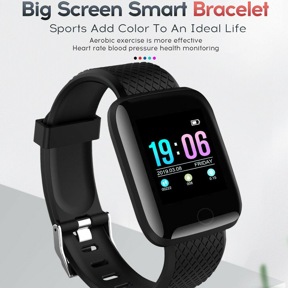 Smart Watch Band Heart Rate Oxygen Blood Pressure Fitness Tracker Activity Sport - Fitness Watch - I...
