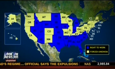 Right To Work States Vs Union States Map.Myths And Facts About Right To Work Laws Research Media