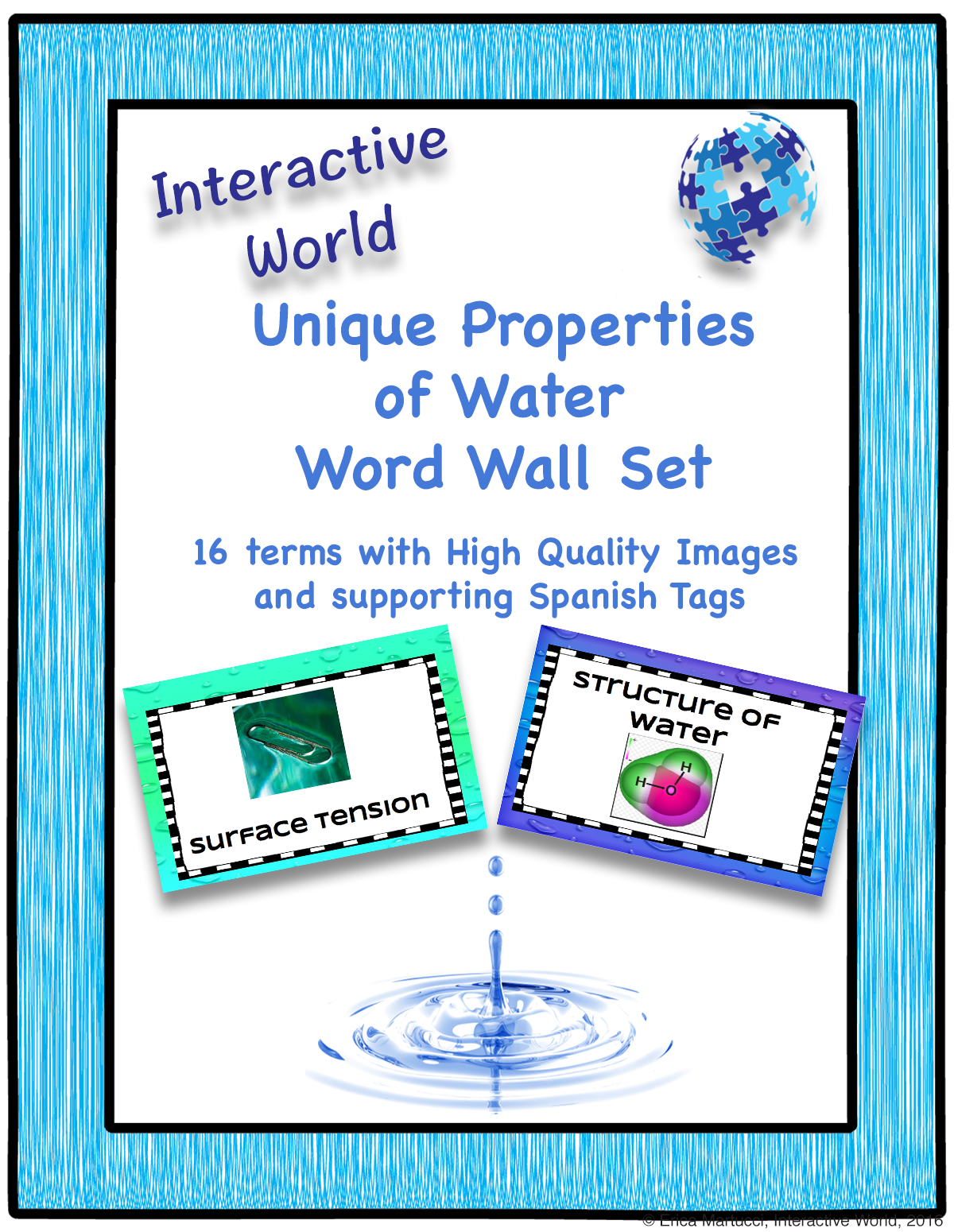 Unique Properties Of Water Word Wall Set
