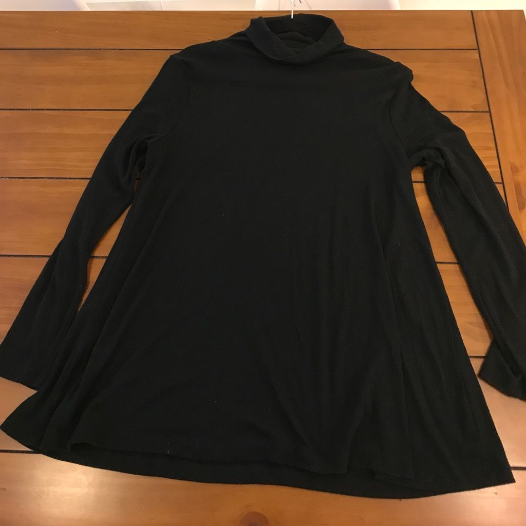 Cotton emporium black long sleeve turtleneck dress long sleeve