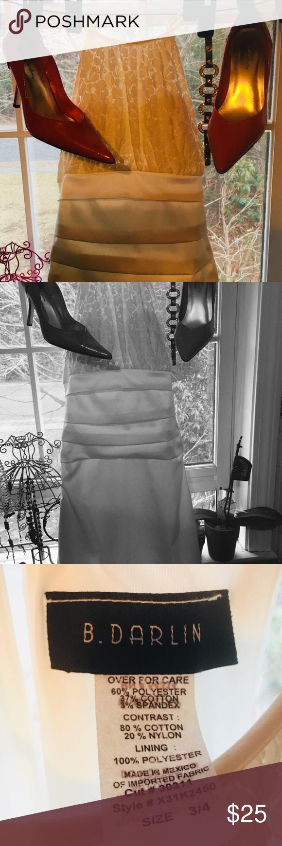 B darlin black lace dress  BDarlin ivory Party Dress  My Posh Picks  Pinterest