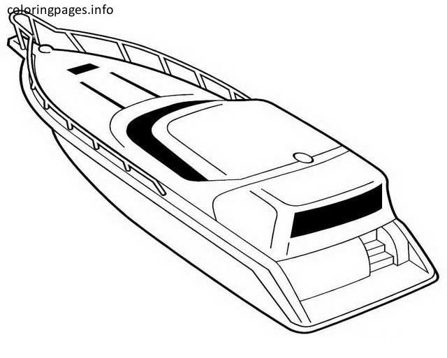 speed boat coloring pages | Coloring Pages | Pinterest | Boating and Pdf