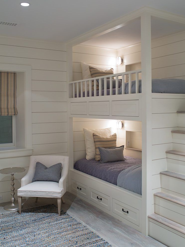 Boston Bunk Bed Lighting With Wooden Kids Dolls Transitional And