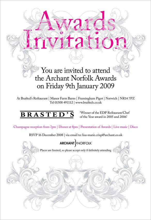 image result for invitation to an awards ceremony wording