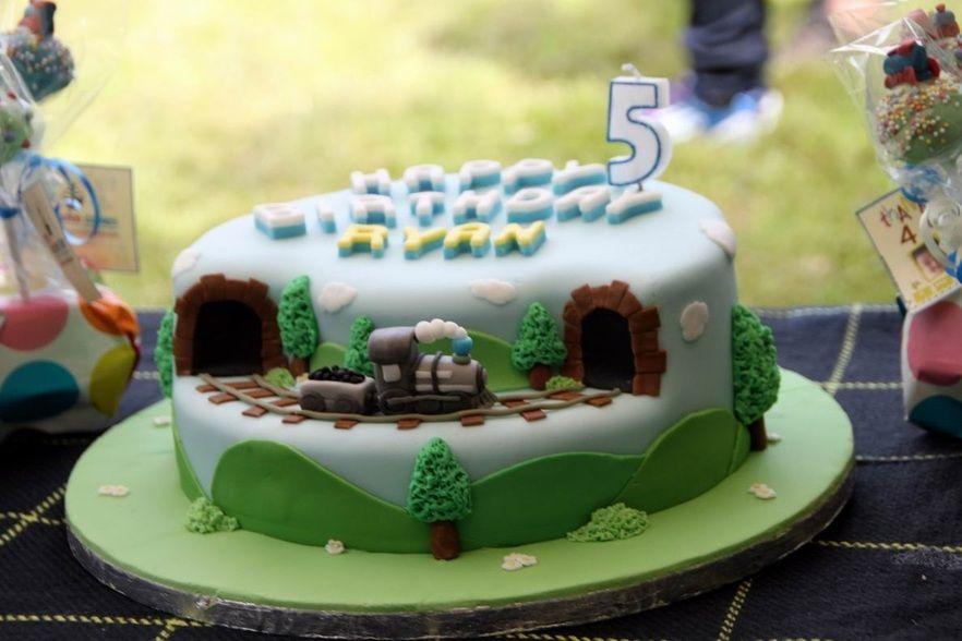Handmade Steam Train Birthday Cake