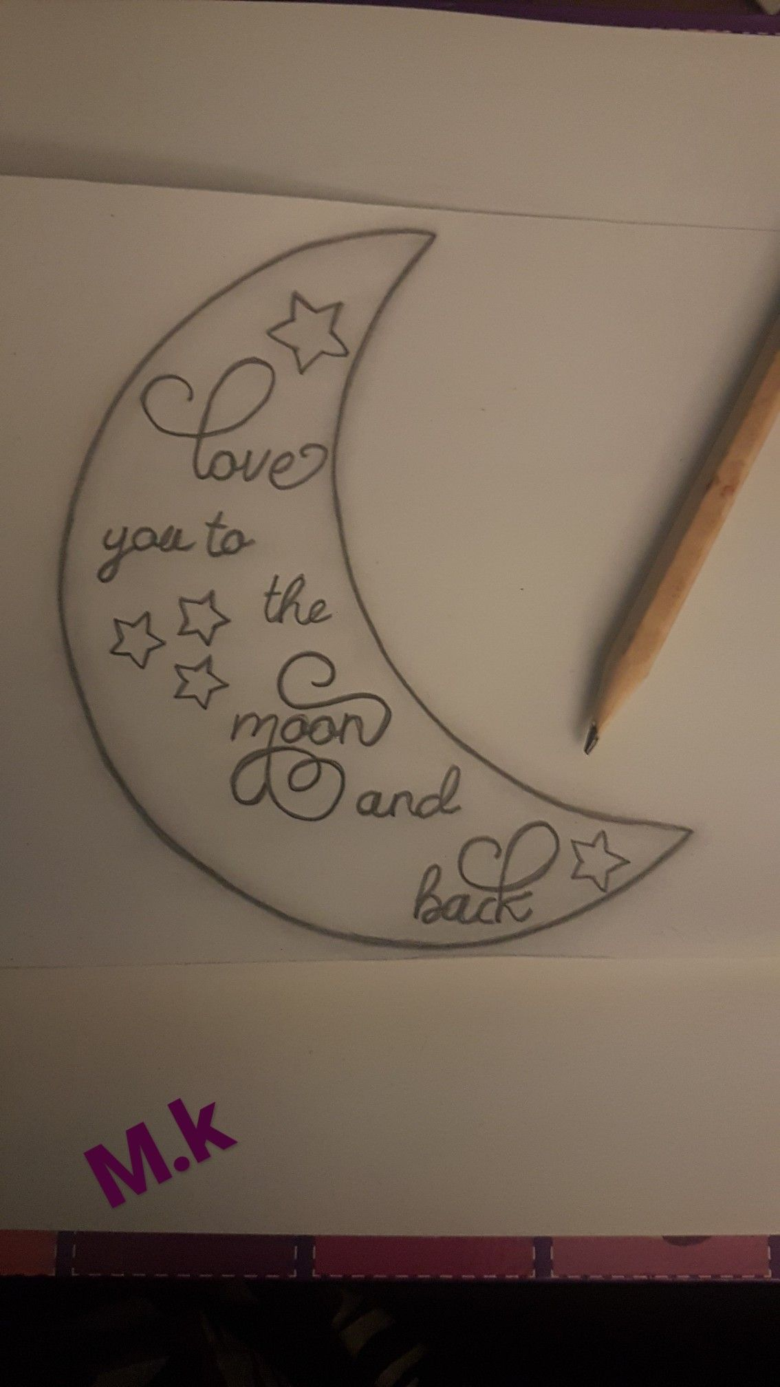 Luv U To The Moon Nd Back Easy Love Drawings Art Drawings