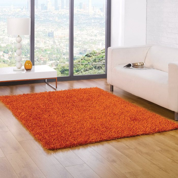 Nice Shaggy Rug In A Beautiful Orange. This Modern Rug Is Perfect As A Living  Room Rug Or A Bedroom Rug In Your Home. Rugs Are From Uk Sellers Chic At  Home
