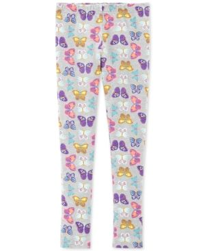 039fee9663eab Carter's Little & Big Girls Butterfly-Print Leggings - Print 6-6X ...