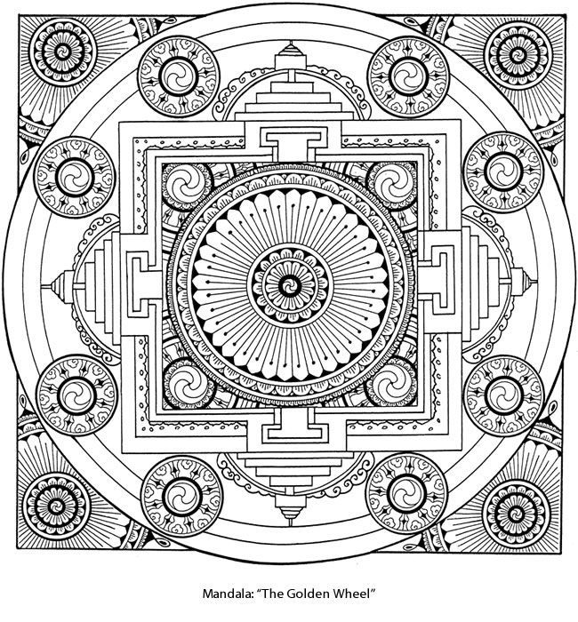 Welcome to dover publications coloring coloringpage tibetan mandalamandala coloring pagesfree