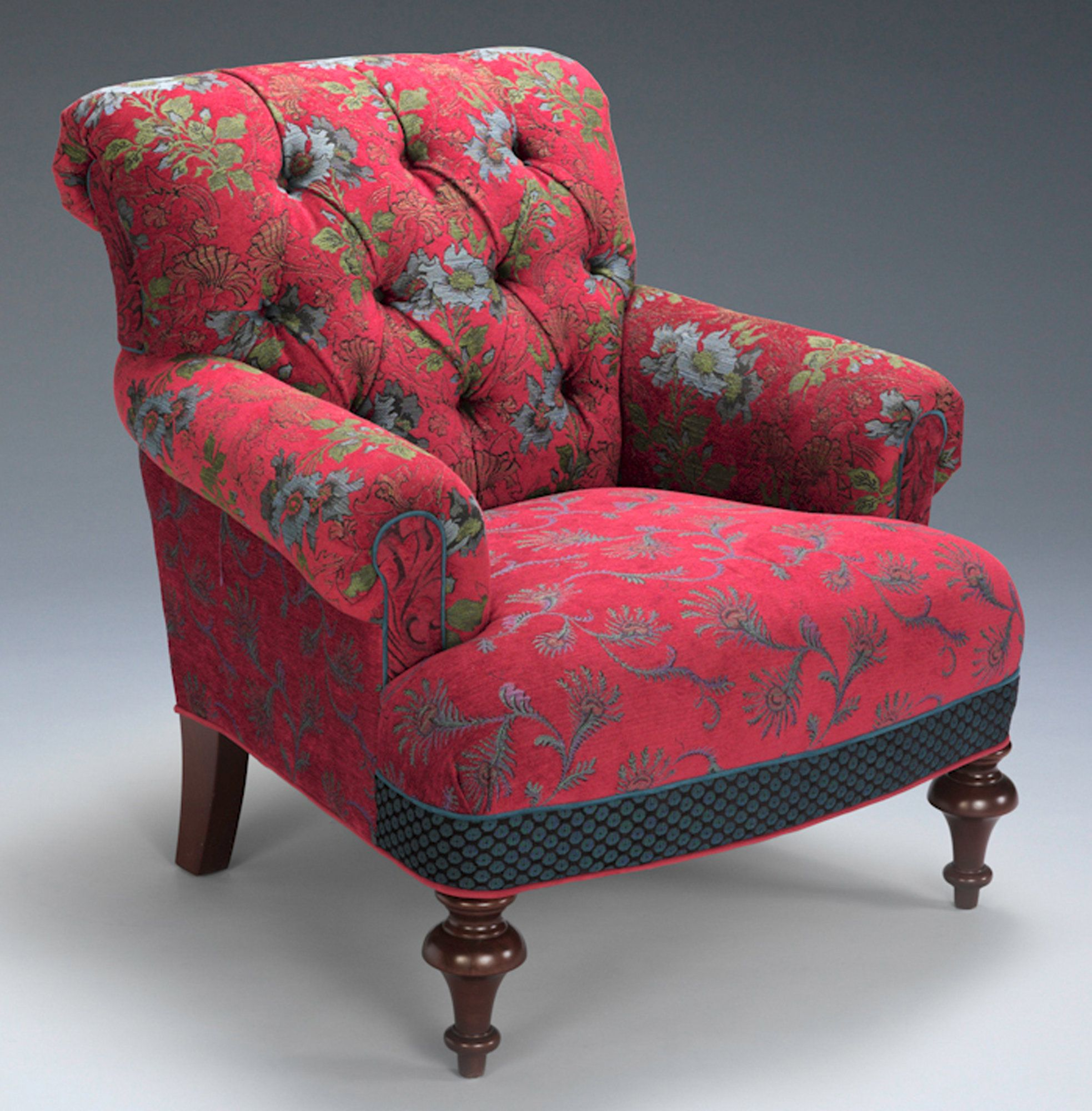 Middlebury Chair in Red Wine by Mary Lynn O\'Shea (Upholstered ...