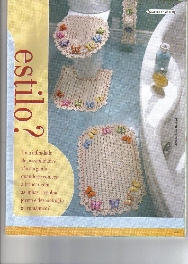 JUEGO BAÑO CROCHET  Crochet Bathroom Stuff  Pinterest ...