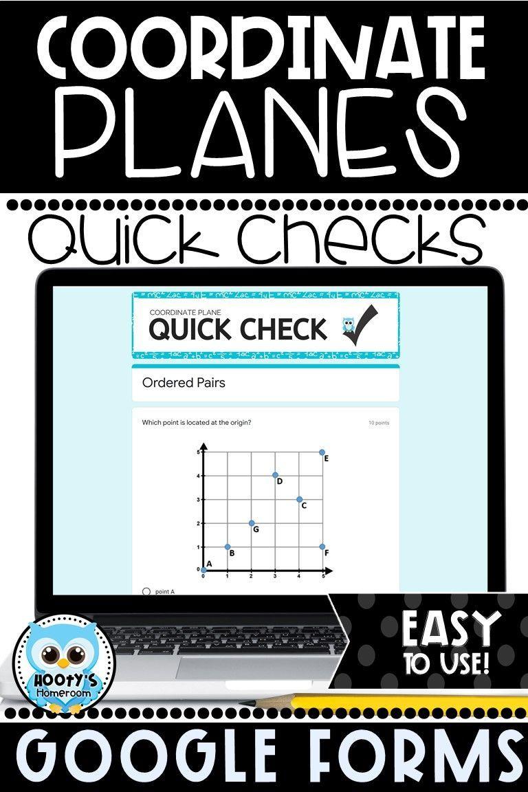 Coordinate planes using google forms coordinate plane