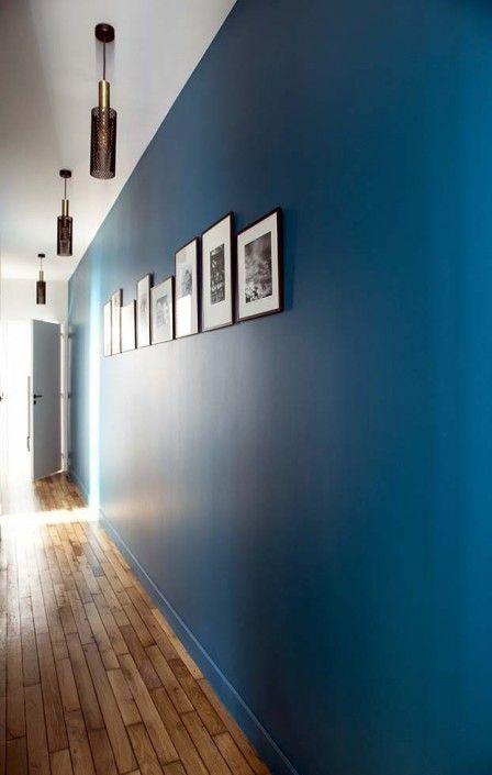Grand Caroline Desert Decoratrice Interieur Couloir Bleu Vintage Bleu  Canard Suspension Vouges Sarah Lavoine 10
