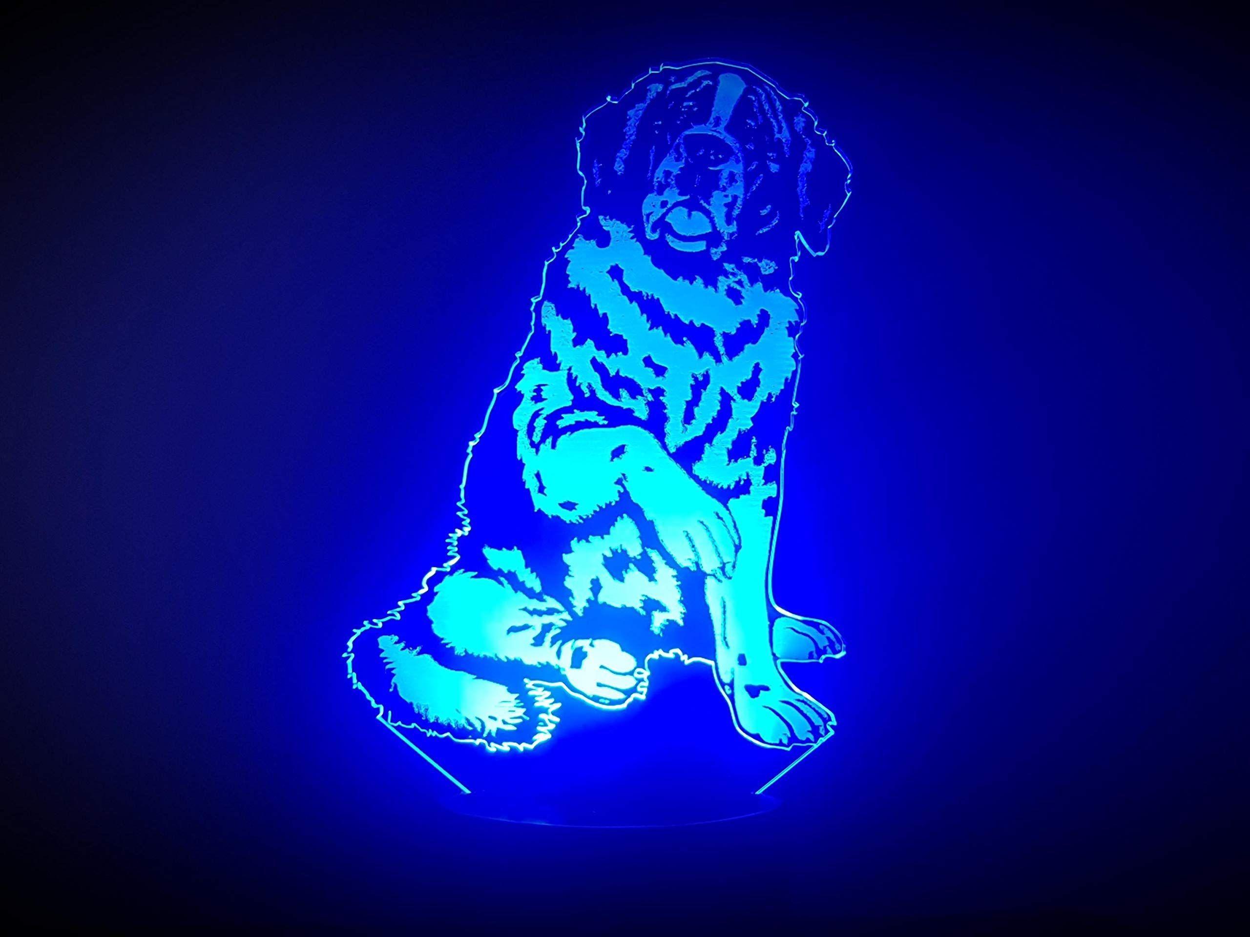Hund Bernhardiner 3d Lampe Led Bernhardiner Hund Led Lampe Led Lampe Bernhardiner Led