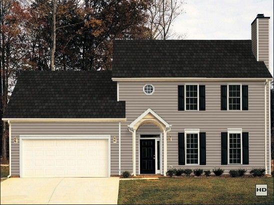 Certainteed Vinyl Siding Natural Clay Red Door House Exterior House Colors House