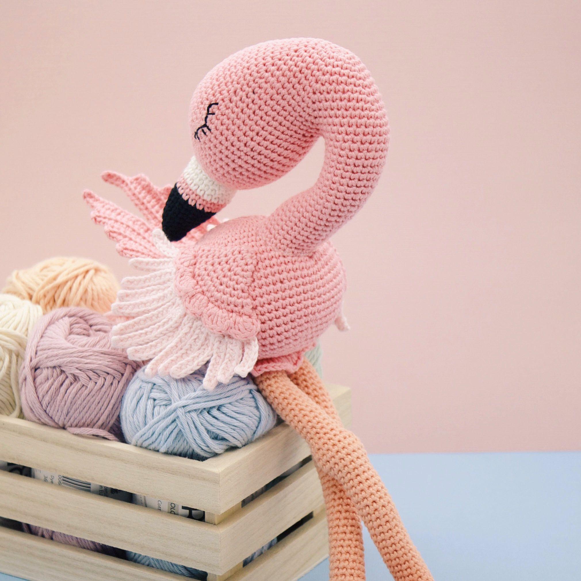 Amigurumi Crochet Pattern English Flo The Flamingo Horgols